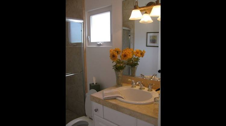 One of the bathrooms in the guest bedroom